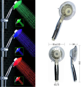 Water Saving Hand Hold LED Shower Head (QSH-010) pictures & photos