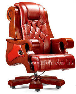 Top Grade Genuine Leather Wooden Executive Chair Luxurious Office Furniture (FOHA-05) pictures & photos