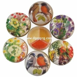 Small Round Tin Box (A-056)