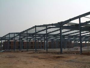 Kuwait Precast Industrial Steel Warehouse Building Fabrication with Short Production Cycle (br00083)