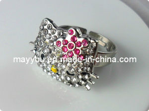 Fashion Jewelry-Rhinestones Adjustable Finger Ring pictures & photos