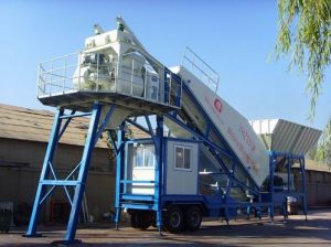 Yhzs50 Mobile Concrete Batching Plant pictures & photos