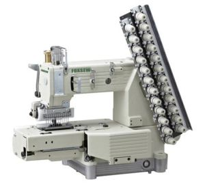 Cylinder-Bed 12-Needle Double Chain-Stitch Sewing Machine pictures & photos