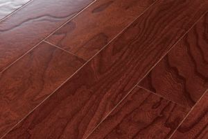 Elm Engineered Wood Flooring 1210X165X16mm with Embossment Surface-Red Color (LYEW 11) pictures & photos