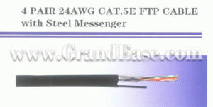 FTP CAT5E with Steel Messenger