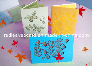 Laser Cutting Greeting Card (HG0609)