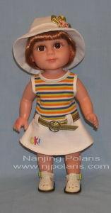 """14"""" Full Vinyl Standing Doll (A634)"""