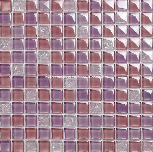 Wall Mosaic Crystal Glass Mosaic Tile (HGM237) pictures & photos
