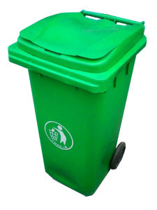 Plastic Outdoor Dustbin with Pulley Bottom -120L pictures & photos