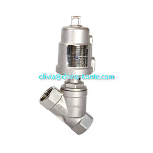 Ss304 / 316 Stainless Steel Pneumatic Angle Piston Valve for Hot Sales pictures & photos