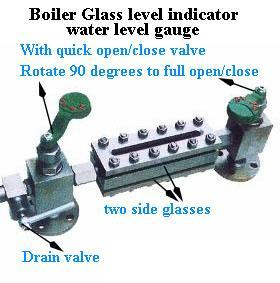 Quarter of Opening and Closing Valve Boiler Glass Level Gauge pictures & photos