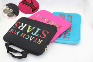 Embroidery Portable Laptop Sleeve Case Bag, PC Bag pictures & photos