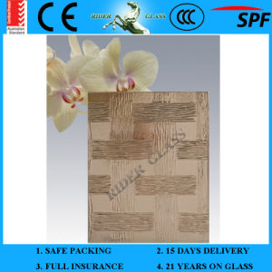 3-8mm En12150 Clear Colored Plant Green Mayflower Pattern Patterned Glass with Ce and AS/NZS 2208 pictures & photos