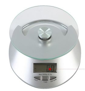 5kg Digital Kitchen Scale with Clock Function
