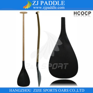 2016 Carbon Fiber Blade Wooden Shaft Hybird Outrigger Paddle