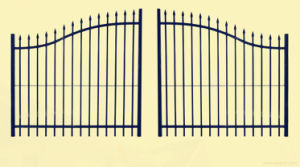 Iron Gate with Sharp End Metal Garden Gate pictures & photos
