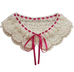 High Quality Hand Crochet Beaded Collar with Lace pictures & photos