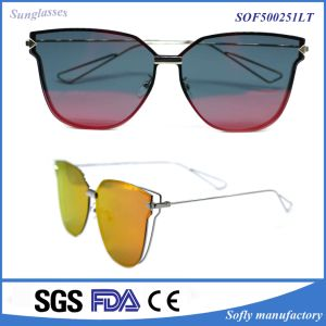 The Most Popular Fashion Personalized Design Can Be Customized Large Metal Sunglasses pictures & photos