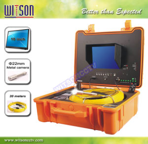Witson Pipe Drain Inspection Camera with Push Rod Wheel 20m Fiberglass Cable pictures & photos
