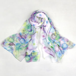 Anti-UV 100% Microfiber 30d Chiffon Printing Women Beach Shawl Scarf