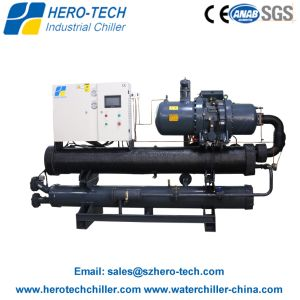 Low Cost Long Warranty Water Cooled Glycol Chiller with Screw Compressor pictures & photos