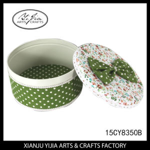Custom Decoration Round Tin Box for Home Storage Decoration pictures & photos