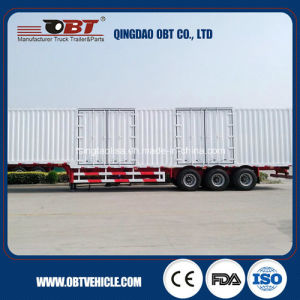 3 Axles 50t 60t Cargo Box Van Semi Trailer pictures & photos