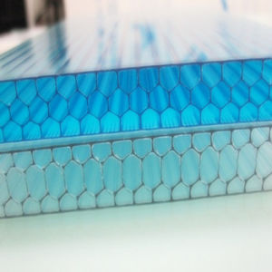 Honeycomb Polycarbonate Plastic Panels for Car Garage Roofing pictures & photos