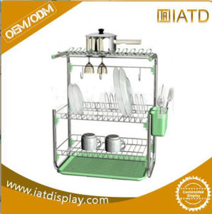 Pop up Wire Stand Equipment Supermarket Wall Storage Display Shelf for Fruit and Vegetable pictures & photos