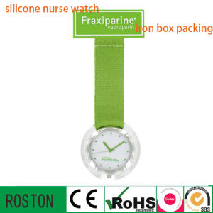 Nylon Handing Nurse Watch with Plastic Material