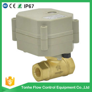 "Dn8/Dn10 3/8"" 1/4"" Electric Brass Mini Motorized Motorised Ball Valve pictures & photos"