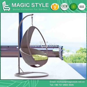 Balcony Wicker Swing Chair Outdoor Rattan Hammock (Magic Style) pictures & photos
