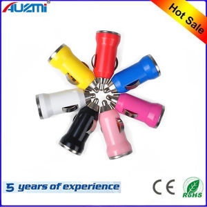 Mini Colorful Bullet USB Car Charger for Mobile Phone