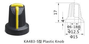 Guitar Parts Potentiometer Control Plastic Knob 6mm Shaft pictures & photos