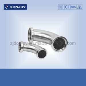 Ss 316L Bpe Sanitary Pipe Fittings Clamp 45 Degree Elbow pictures & photos