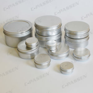 China Aluminum Cosmetic Cream Jars with Screw Lid pictures & photos