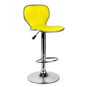 Yellow Color Synthetic Leather Bar Chair with Backrest (FS-T6045) pictures & photos