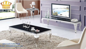 2016 Simple Style Modern Stainless Steel TV Table Stand For Living Room Furniture