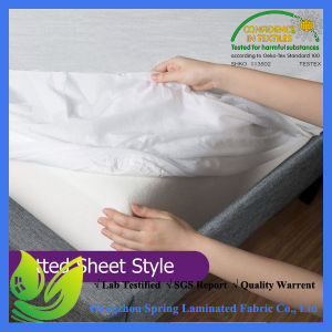 Breathable PU Coated Waterproof Mattress Protector pictures & photos