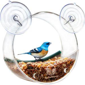 Circular Window Bird Feeder Acrylic Bird Feeder Bird Cage Bird House pictures & photos