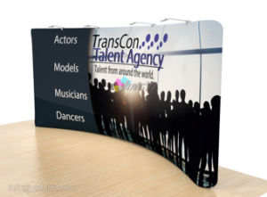 Full Color Tension Fabric Ez Tube Pop up Display Stand pictures & photos