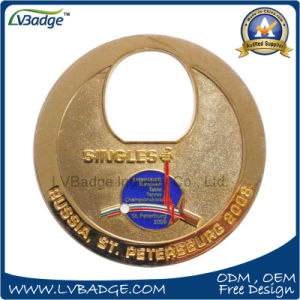 Promotion Customer Metal Coin with Table Tennis pictures & photos