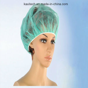 Disposable Nonwoven Bouffant Round Nurse Cap for Surgical and Medical Use pictures & photos