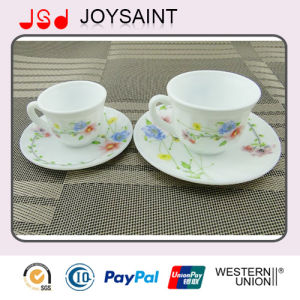Opal Glass coffee Cup and Saucer 190cc pictures & photos