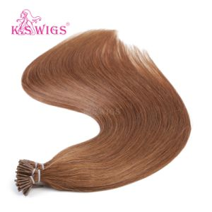 K. S Wigs European Virgin Remy Hair Extensions Keratin Hair Human Hair pictures & photos