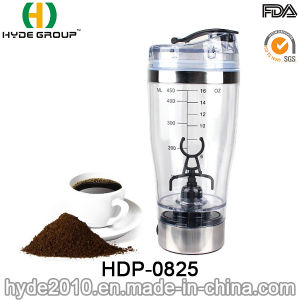 450ml Hot Popular Plastic Gym Protein Electric Shaker Bottle, Plastic Vortex Protein Shaker Bottle (HDP-0825) pictures & photos