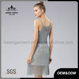 Karen Girls Petite High Waist Sleeveless Short Dress pictures & photos