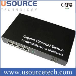 10/100/1000base-T to 1000base-X 4 Port Gigabit Ethernet Switch