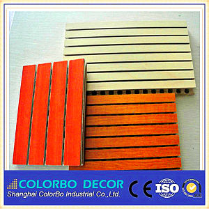 MDF Soundproofing Materials Wooden Acoustic Panel pictures & photos