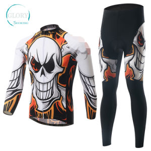 100% Polyester Man′s Knit Cycling Wear pictures & photos